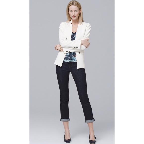 White House Black Market Denim - WHBM dark wash Skinny Jeans Small